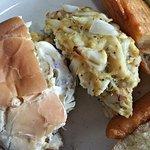 closeup Crab Cake.. all lump crab-meat no filler