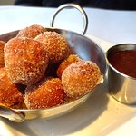 Cinnamon BACON beignets with maple caramel...oh my!