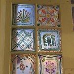 Original painted window by Ernest Martinez