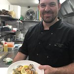 Our Chef Mark with Seafood Risotto