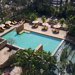 View from 6th floor, rooms facing pool area