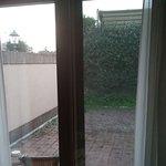 Vista sul cortile privato della camera