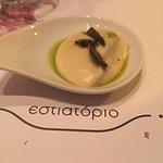 κρέμα κουνουπίδι με φρέσκια μαύρη τρούφα
