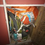 locker space is adequate for a 70L ricksack and day bag