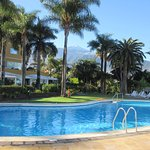 The pool with Mount Teide in the distance