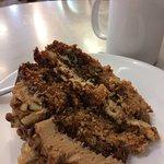Walnut cake and tea.