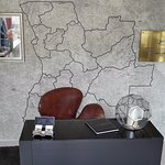 At the reception, the Angola map with the governors' signature is a nice and pleasant detail.