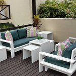 Outdoor terrace where you can relax and enjoy a calm and cozy atmosphere.