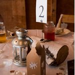Birch Table Number Centerpieces