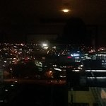 View from our suite at night