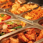 A snapshot of Wok n Grill buffet counter