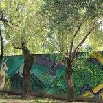 Muro artístico en el Parque