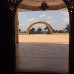 View from inside the mosque