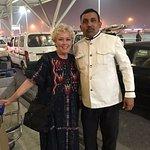 Ganesh, Suryaa Hotel Driver and my wife, Amy.