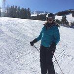 Skiing peak 8