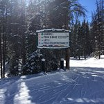 Chairlift directional signs