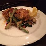 Crab Cakes with green beans