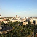 View from Rinkeli in Linnanmäki Fun Park, Helsinki, Finland