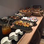 Great breakfast buffet with a variaty of options. Good quality in the selection of products