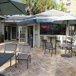 Bar by pool