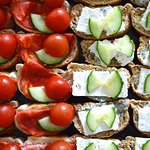 Open sandwiches buffets