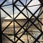 Mercedes Benz Superdome is right next door view from Elevator
