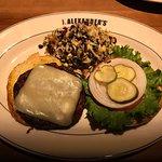 Veggie burger, brasserie chicken, pork tenderloin!
