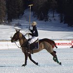 Snow polo on the lake