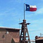 Texas flag flying high