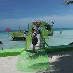 Their private pier and entrance to their beach bar