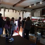 Always a line for good food and pies