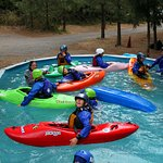 Annual Wet Planet Kids Kayak Camp - 2016 - Day 1, pool day.