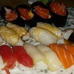 variety sushi