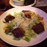 Cesar Salad with Steak Tips. $17