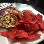Tiki Tacos with the smoked chicken.
