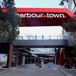Harbor Town - entrance opposite the tram stop