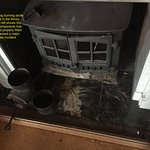 Incorrectly installed log burner that filled ground floor with thick smoke