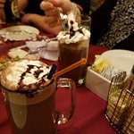 The adult hot chocolate was one of our favorite drinks at dinner!