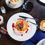 Pancakes with Berry Coulis