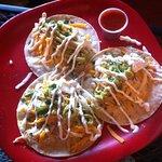 3 veggie tacos