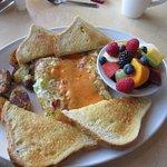 Denver Omelet with fruit