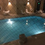 View Of Pool From 2nd Floor Through Protective Glass