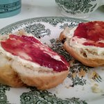 Wellcome Kitchen - Afternoon Tea - Clotted Cream & Strawberry Jam on rations.