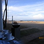View from the table of the restaurant during breakfast