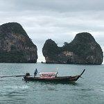 Scenic Views by Motor Boat to Krabi