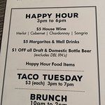 Some good choices for happy hour
