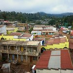 Wundanyi town viewed from the top floor of the hotel.