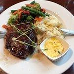 Locally grown Porterhouse Steak and veggies.... delicious!