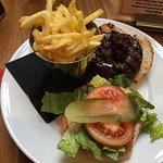 Angus Beef Burger & Cheese Fries