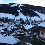 View from lounge across to Morzine town and Pleney slopes